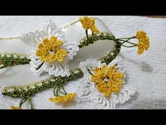 Crochet Motif, Garland, Diy And Crafts, Crochet Earrings, Lace, Jewelry, Youtube, Ideas, Dish Towels