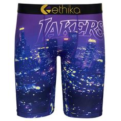 Los Angeles Lakers Ethika for Fanatics Youth Baller Boxer Brief - Purple