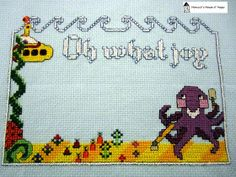 Oh What Joy! Beatles themed cross stitch birth sampler. Download at Craftsy