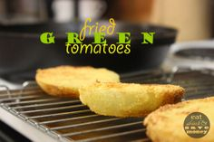 Fried green tomatoes are the best!  Follow these directions for fail proof fried green tomato BLT sandwiches, plus a sriracha spicy mayo aioli.  | eat drink and save money blog