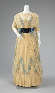 Dinner Dress, 1908, House of Worth,   Metropolitan Museum of Art ,   Brooklyn Museum Costume
