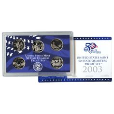 2003-S State Quarters 5-Coin Proof Set