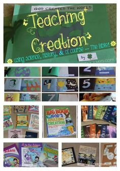 """Teaching Creation using Science, History, & of course!"" by Raising Clovers - The Bible! This fun post highlights lots of fun books that we use to infuse God's Word into our kids hearts! (Including a peek at our creation book). http://www.raisingclovers.com/2015/02/16/teaching-creation/"