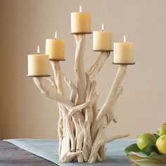 Its unusual material isn't the only thing that makes the Driftwood Candelabra ($159, originally $239) special; it holds pillar candles instead of tapers!