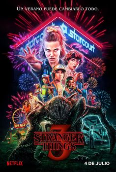 Netflix releases a brand new Stranger Things season 3 poster exactly one month before it's set to hit the streaming platform on July Stranger Things Netflix, Stranger Things Saison 1, Poster Stranger Things, Stranger Things Tumblr, Eleven Stranger Things, Secret Plot, Starnger Things, Winona Ryder, New Poster