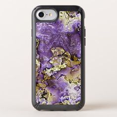 Violet Purple Faux Gold Minerals Agate Pattern Speck iPhone Case - faux gifts style sample design cyo
