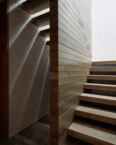 Photo 21 of 32 in Whidbey Island Farm Retreat by mwworks - Dwell Philip Johnson, Modern Staircase, Staircase Design, Chicken Shed, Seattle, Polished Concrete Flooring, Timber Deck, Whidbey Island, Construction