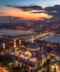 Magic sunset in Istanbul! : Istanbul Turkey Founder: Tag your best travel photos with Cool Places To Visit, Places To Travel, Places To Go, Europe Places, Beautiful Mosques, Beautiful Places, Wonderful Places, Turkey Photos, Istanbul Travel