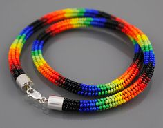 Ndebele Beadwork Necklace Brilliant by SilverspotMetalworks, #beadwork