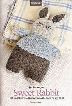 Knitted bunny - free pattern: