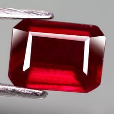 2.07CT.FABULOUS! OCTAGON FACET TOP BLOOD RED NATURAL RUBY MADAGASCAR #GEMNATURAL