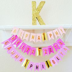 The MINI GOLD FOIL Banner makes a cute decoration for a White Erase Board, to string across your calender, or Memo Board. It can be taped to a wall