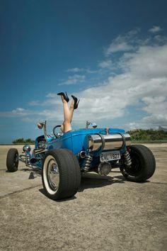 Rat Rod Girls, Car Girls, Vintage Race Car, Vintage Trucks, Hot Rods, Rockabilly Cars, Ford Roadster, T Bucket, Hot Rod Trucks