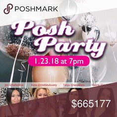 Posh Party 1/23/18! I'm co hosting on 1/23/18 with my Pffs ! I'll be choosing SOME host picks live on Instagram starting at 7:10 pm . Please follow me on Instagram : Mizfabulousity and follow on Youtube : Mizfabulousity and tune in live for a host pick . When you tune in type in your closet name in the comments so I see it on my end . Your closet must be compliant- No exceptions . Leave your closet name below too . See you on 1/23/18! Tag your Pffs . Other