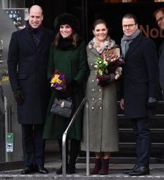 Following a fun-filled morning in snowy Stockholm , the Duke and Duchess of Cambridge travelled to the Royal Palace of Stockholm where they ...