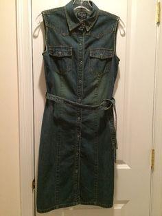 Ralph Lauren Polo Jeans Denim Sleeveless Dress SZ 6 #LaurenRalphLauren
