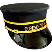 Vintage Size 7  Illinois Central Railroad Conductor's  Hat