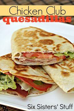 chicken-club-quesadillas from #Savory| http://specialsavoryrecipeskayli.blogspot.com