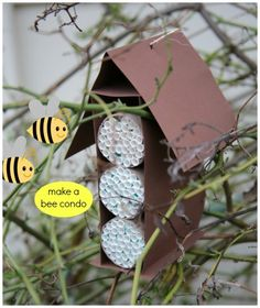 How to make a bee condo out of paper straws