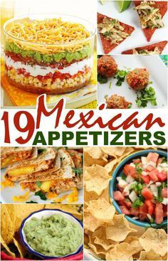 Looking for Mexican appetizers? These 19 Mexican appetizers come together quickly for a delicious start to any potluck or party - and are perfect for celebrating Cinco de Mayo.