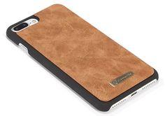 CaseMe 007 iPhone 7 Plus Retro Flannelette Leather Detachable 2 in 1 Wallet Case Brown
