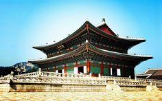 Lataa kuva Gyeongbokgung Palace, linna, Soul, Etelä-Korea, Aasiassa