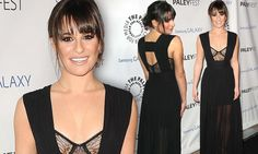 Ooh la Lea! Glee starlet Lea Michele slips into revealing bra-top gown at the PaleyFest Icon Awards dailymail.co.uk