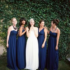 #navy #bridesmaid dresses by Donna Morgan Read all about it on Lover.ly/read