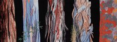 """Myla Collier (USA), """"Urban Forest,"""" 17"""" x 52"""" woven tapestry, ATB 9"""