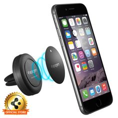 Mount your phone in your car with the Magnetic Air Vent Mount for residue- free stability that's minimal in bulk and appearance. Despite its extremely compact size, its strong magnetic attraction holds the smartphone securely in place.