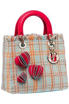 Christian Dior Lady Dior Tweed Bag