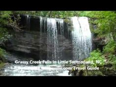 Grassy Creek Falls on the Blue Ridge Parkway in Little Switzerland