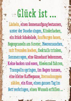 Glück ist... - Doppelkarten - Grafik Werkstatt Bielefeld