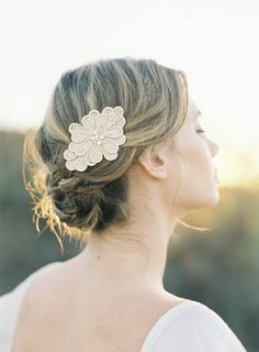 Gorgeous gold floral comb. I love fresh flowers, but they do have a tendency to wilt and so if you want the peace of mind that your accessor...