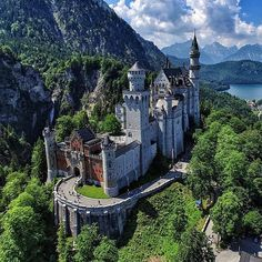 """Neuschwanstein Castle, Bavaria Photography by levanterman"" Beautiful Castles, Beautiful Places, Places Around The World, Around The Worlds, Imagen Natural, Places To Travel, Places To Visit, Luxury Boat, Germany Castles"