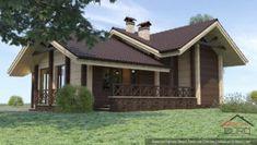 Архитектурный проект небольшой бани – arch-buro.com Design Case, Gazebo, House Plans, Shed, Outdoor Structures, House Design, Cabin, House Styles, Outdoor Decor