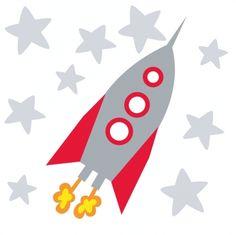 muursticker raket