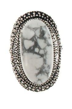 SAMANTHA WILLS - NEVADA RING - WHITE HOWLITE Samantha Wills, Nevada, Jewellery, Rings, Things To Sell, Jewels, Schmuck, Ring, Jewelry Rings
