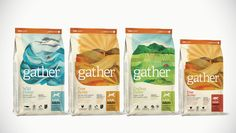 Gather Pet Food A Certified Organic and Sustainable Food for Pets — The Dieline - Branding & Packaging Design