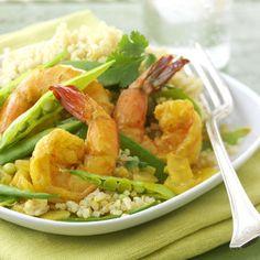Quinoa and Curried Shrimp