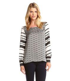 Karen Kane Stripe Sleeve Tunic Top