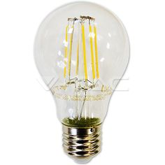 LED Bulbs - Filament : LED Bulb - 6W Filament E27 A60 Warm White