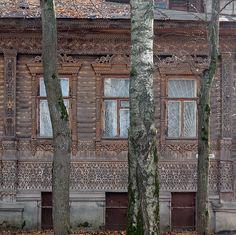ажурный деревянный дом в Кинешме Ивановской области
