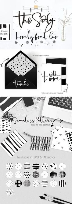 The Sofy Font Duo Pattern Freebie Fonts Hello Creative! Introducing The Sofy, Thin brush font with modern creative stroke, ready to give our by mycandythemes Design Typography, Typography Fonts, Branding Design, Logo Design, Script Logo, Logo Branding, Web Design, Happy Design, Vintage Logo