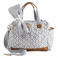 Mud Pie Geo Dot Grey Diaper Bag