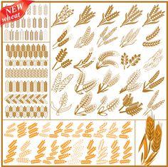 stylized wheat designs