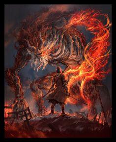 Dark Fantasy, Fantasy Art, Ninja Wallpaper, Soul Saga, Seven Knight, Dark Souls Art, Samurai Artwork, Ghost Of Tsushima, Arte Obscura