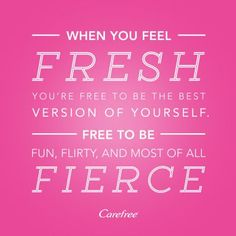Carefree liners are great! Tried and reviewed through the @Influenster #freshisfierce campaign. Sign up to try products free at www.influenster.com/r/807042