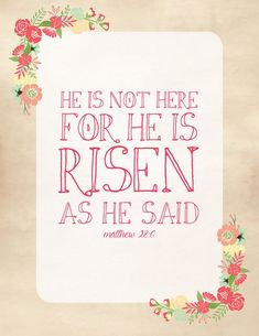 "This year's ""He is risen!"" printable from La Buena Vida"