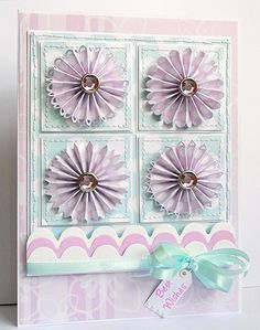 Lovely use of rosettes and color scheme!